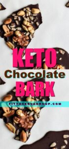 Imagine being able to have healthy fats in a delicious treat. That's what this recipe for Keto Chocolate Bark delivers. It's all we love in a chocolate bark minus all the high carbs. It's made with only a few simple recipes one of which is healthy coconut oil. Grab this recipe today and quench your sweet cravings. |keto chocolate bark |keto bark recipe |keto chocolate bomb recipe |keto fat bomb |low carb fat bomb |fat bombs |low carb chocolate bar