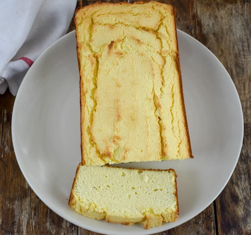 Keto Coconut Flour Cream Cheese Pound Cake