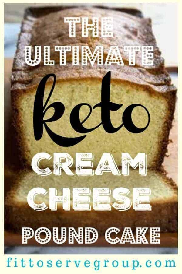 The ultimate keto cream cheese pound cake recipe. It's an easy low carb cream cheese recipe for pound cake. Don't miss out on cake just because you're on a Keto Diet. #ketopoundcake #lowcarbpoundcake #ketocreamcheesepoundcake #lowcarbcreamcheesepoundcake #LCHFpoundcake #LCHFcake