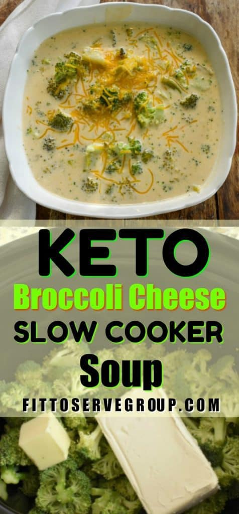 Keto Broccoli Cheese Slow Cooker Soup