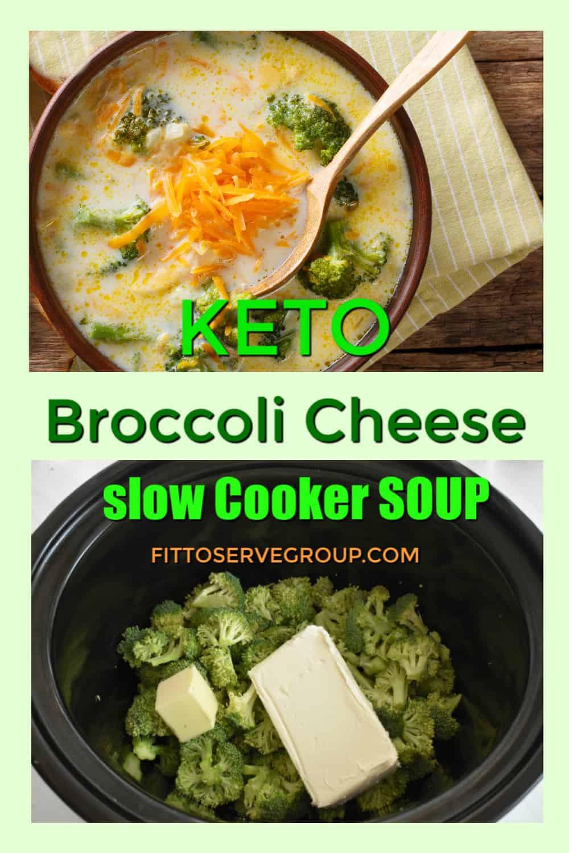 Keto broccoli cheese crock pot soup