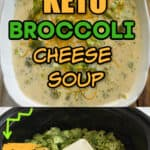 keto broccoli and cheese slow cooker soup