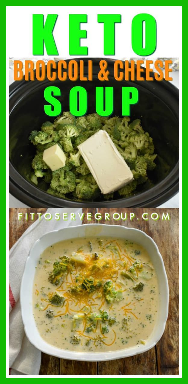 Keto Broccoli Cheese Soup Slow Cooker