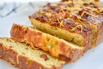 Keto Jalapeno Bacon Cheese Bread has a rich cheesy, slightly spicy and smoky bacon flavor. It's perfect as side, for a quick breakfast. Or toasted for sandwiches.