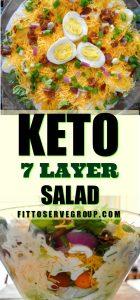 Keto 7 layer salad