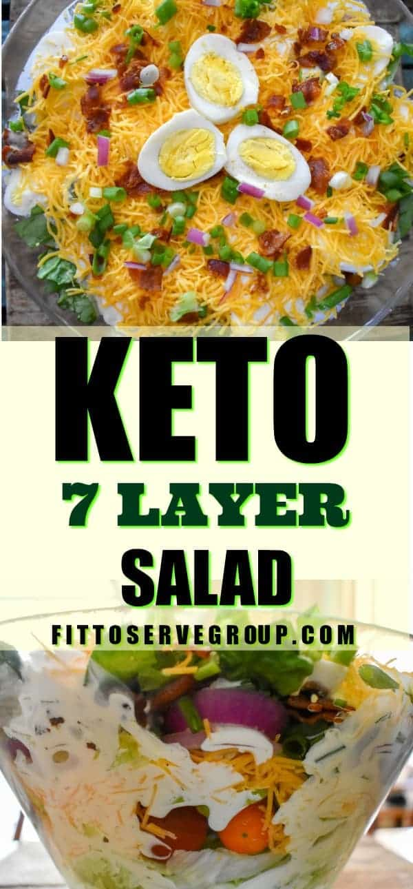 Keto 7 layer salad