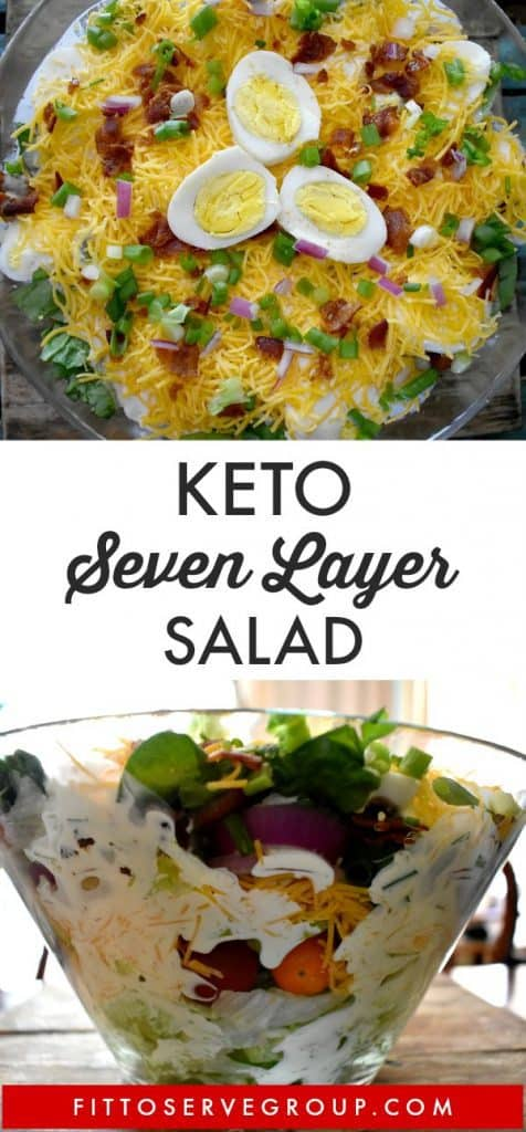 Keto layered salad
