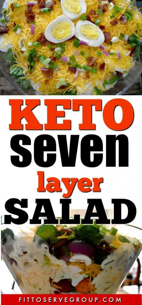 Keto Seven Layer Salad