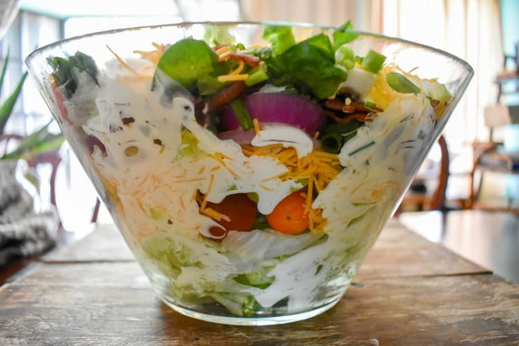 keto layer salad