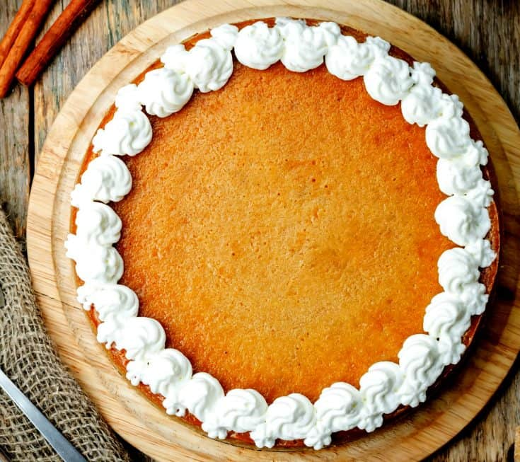 Keto Pumpkin Cheesecake Pie