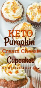 Enjoy keto pumpkin cream cheese cupcakes that are packed pumpkin spice flavors yet void of high carbs. It's the keto pumpkin cupcakes to enjoy all pumpkin season long. |keto pumpkin pound cupcakes| keto cream cheese pumpkin cupcakes |low carb pumpkin pound cupcakes |sugar-free pumpkin cupcakes