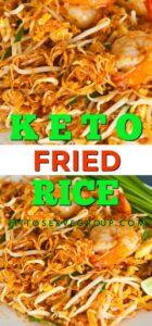 Easy Keto fried rice