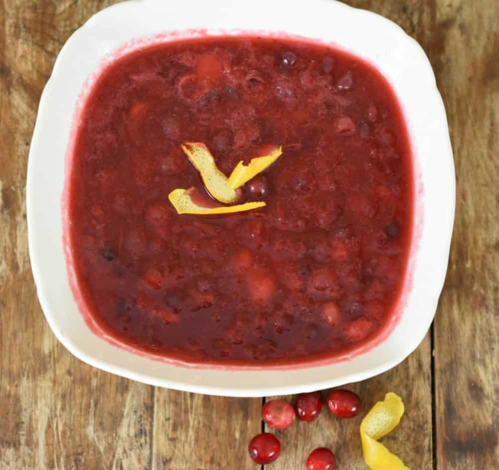 Keto Cranberry Sauce Served