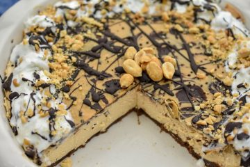 This keto peanut butter chocolate pie is one rich, creamy, dreamy dessert. It's not only low in carbs, sugar-free, grain-free, gluten-free, but also a no-bake pie.