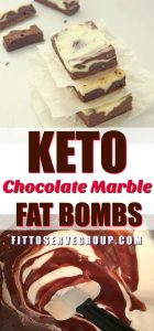 Keto Chocolate Marble Fat Bombs