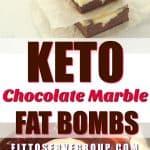 Keto Chocolate Marble Fat Bombs