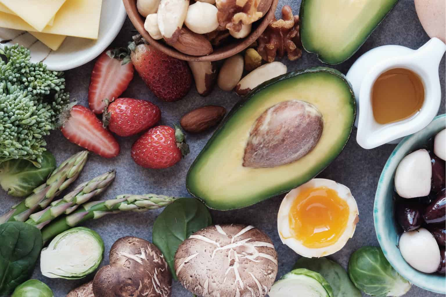 healthy food, keto diet