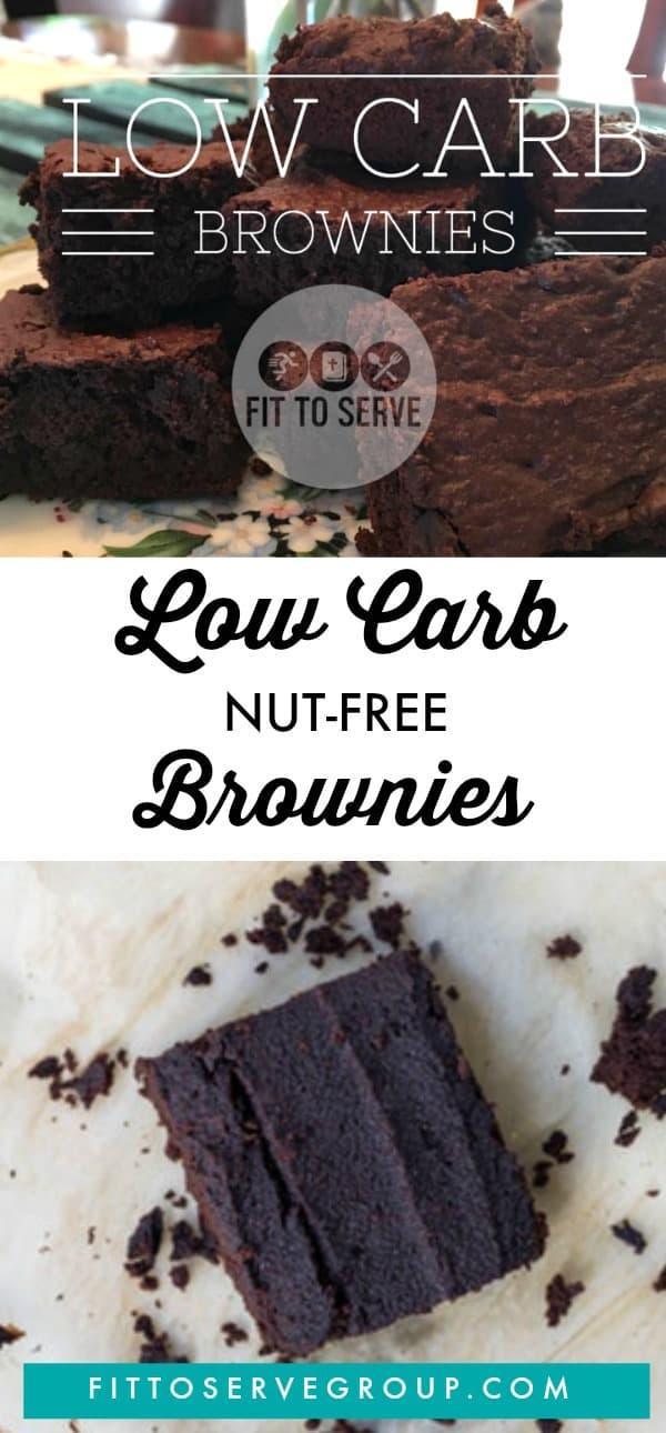 Healthy Low Carb Nut-free Brownies