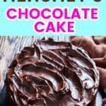 Keto Hershey's Chocolate Cake Frosted