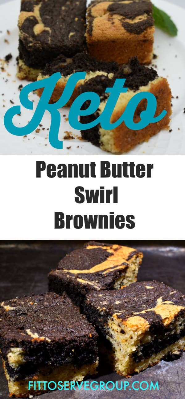 Keto Peanut Butter Swirl Brownies