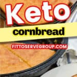 keto cornbread made with almond flour
