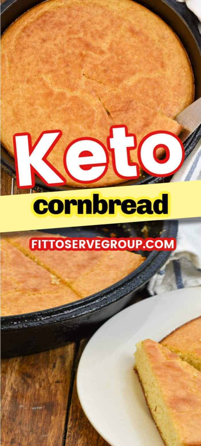 Enjoy a deliciously easy keto cornbread recipe. The perfect substitute for traditional cornbread that is keto-friendly. No need to fret since no cornmeal is used in this low carb cornbread recipe. #ketocornbread #lowcarbcornbread #ketobread #lowcarbbread
