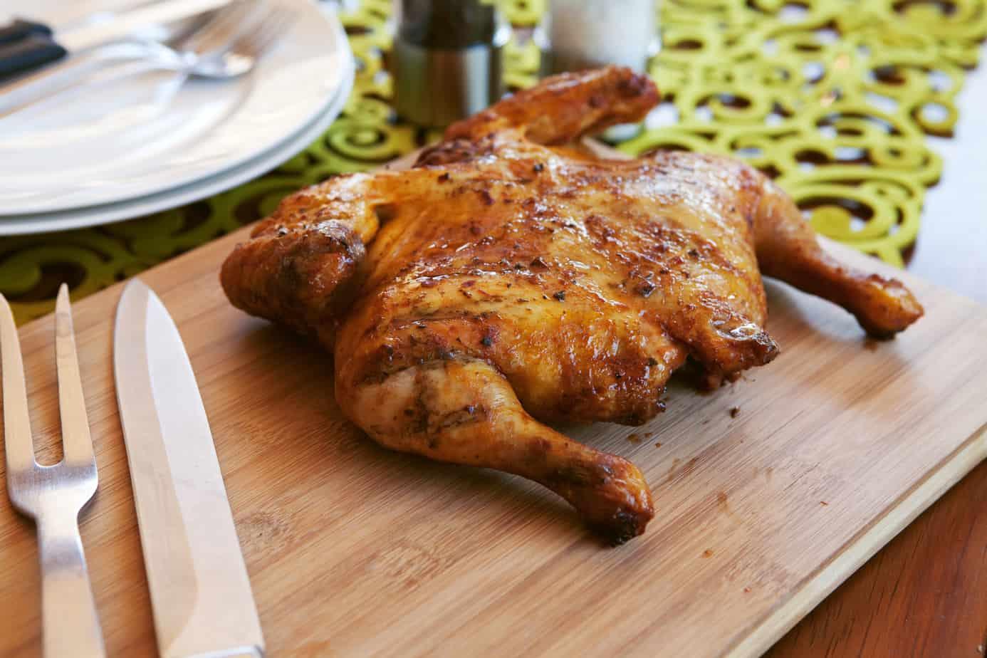 keto spatchcock chicken