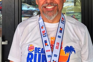 Randy's second place medal in 5K Race