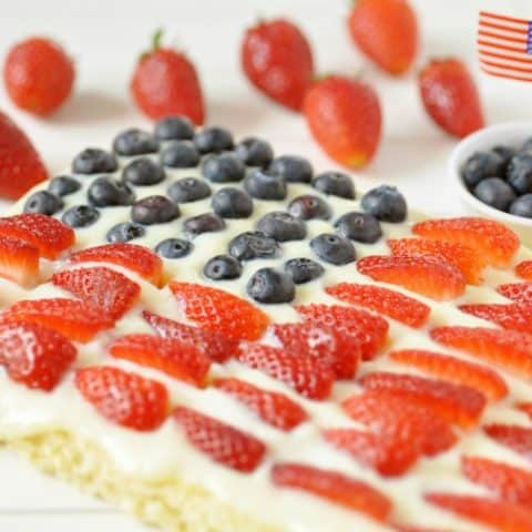 Keto 4th of July Poke Cake
