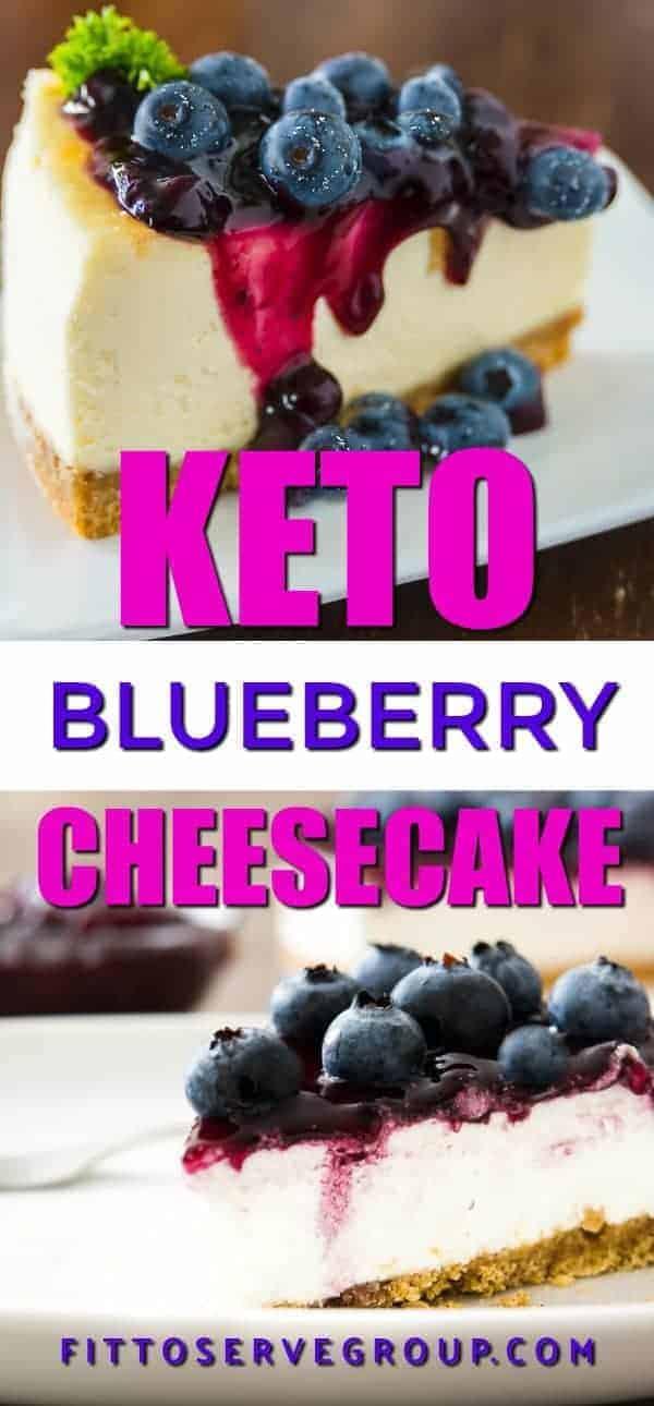 Keto blueberry cheesecake