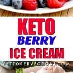 Keto Berry Ice Cream
