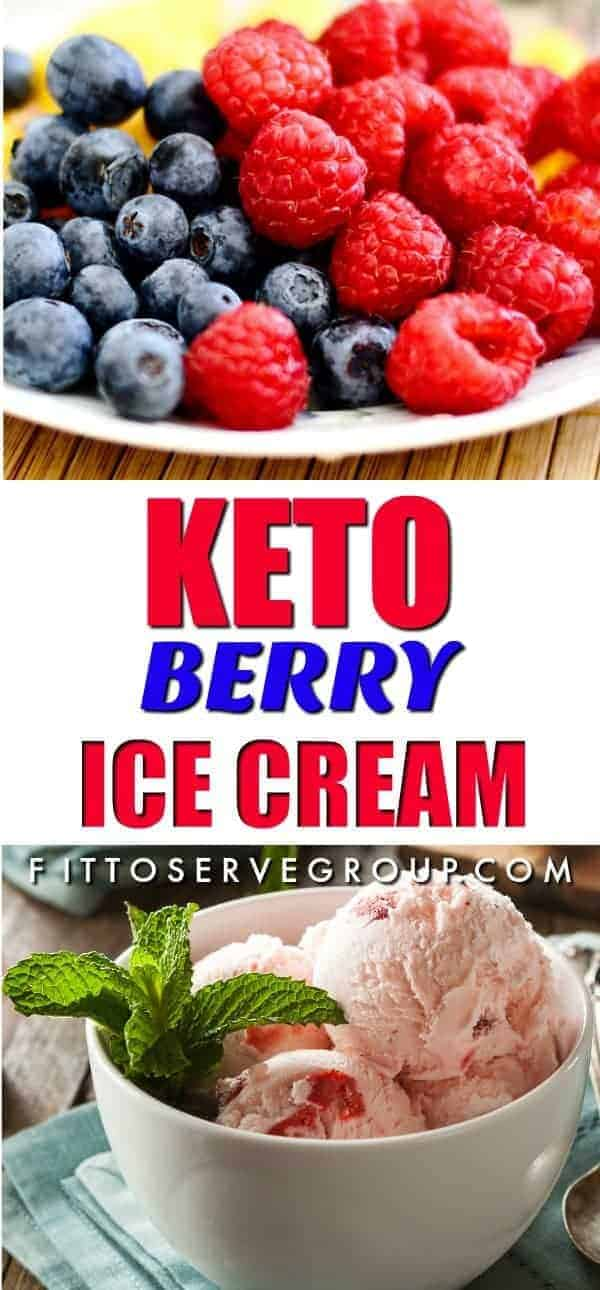 Keto Berry Ice Cream