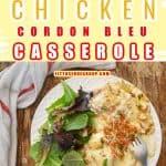 Keto Chicken Cordon Bleu Casserole Pin