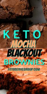 These keto mocha blackout brownies are the richest, darkest chocolate brownie recipe. They are super moist and able to quench the strongest of chocolate cravings. Keto brownies| low carb brownies| Keto blackout brownies| Keto mocha blackout brownies|low carb mocha brownies
