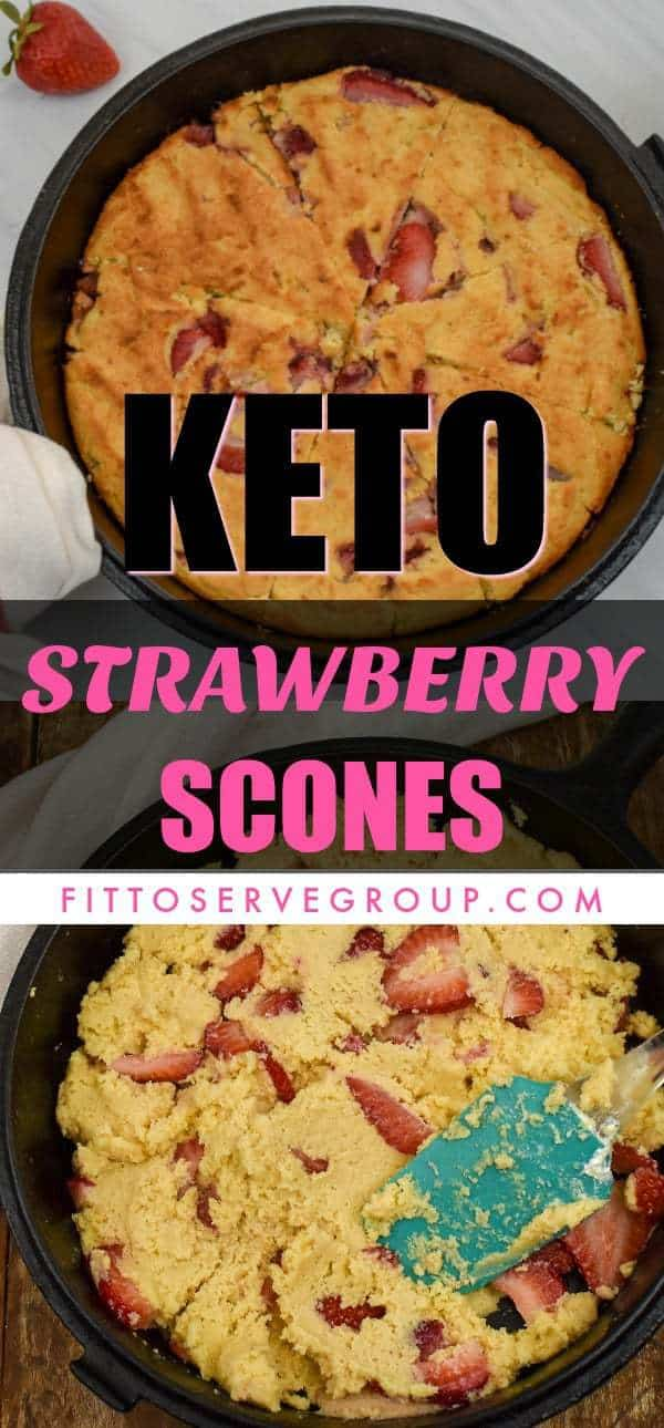 Keto Strawberry Scones
