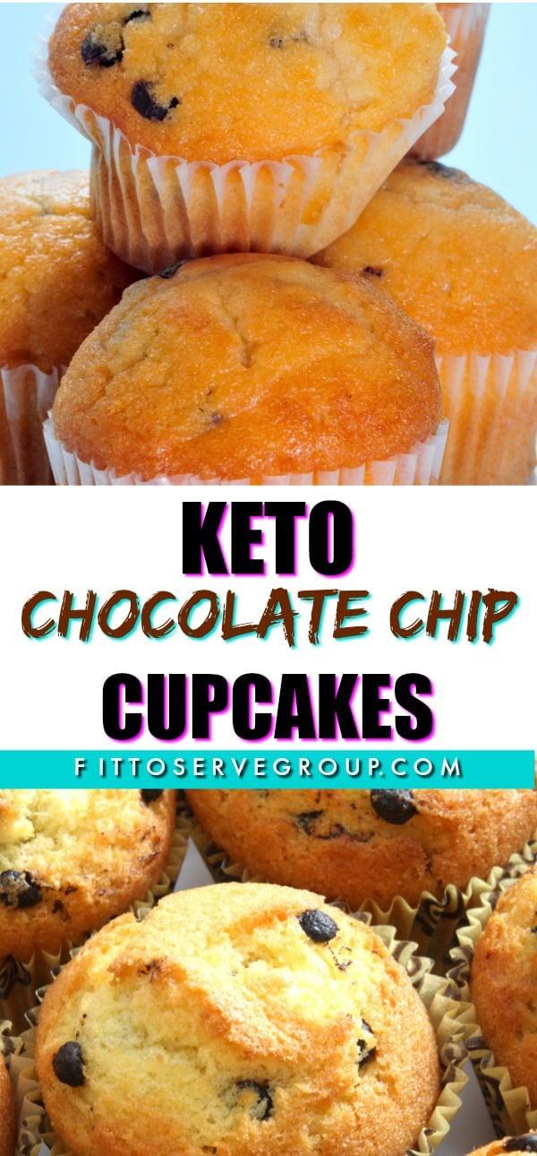 keto chocolate chip cupcakes