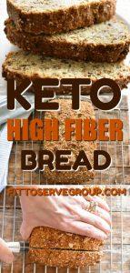 Keto's high fiber bread