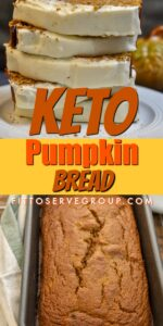 Keto pumpkin bread long pin