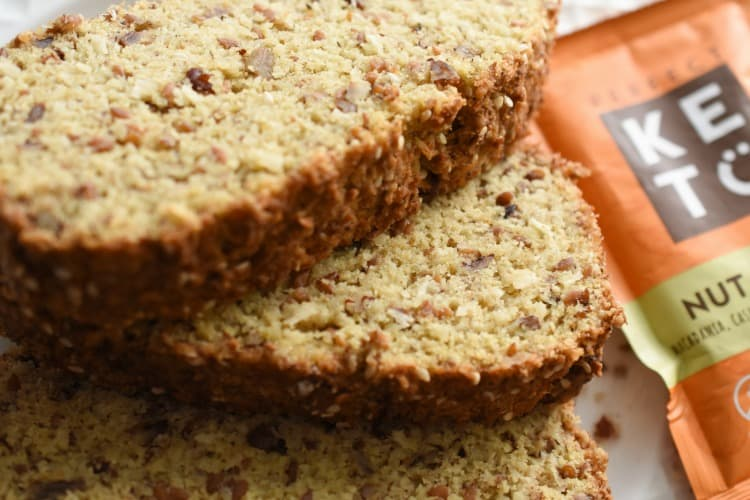 keto high fiber bread with perfect keto nut butter. USE CODE: