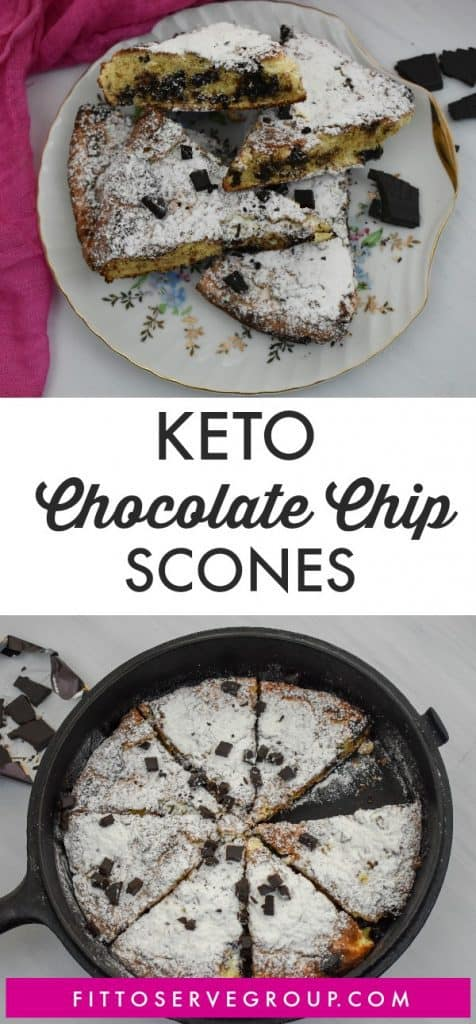 Low Carb Keto Chocolate Chip Scones