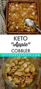 Keto apple cobbler