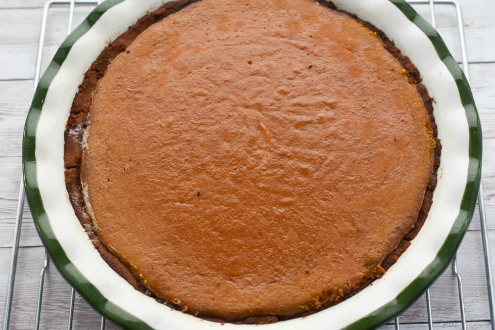 keto traditional pumpkin pie