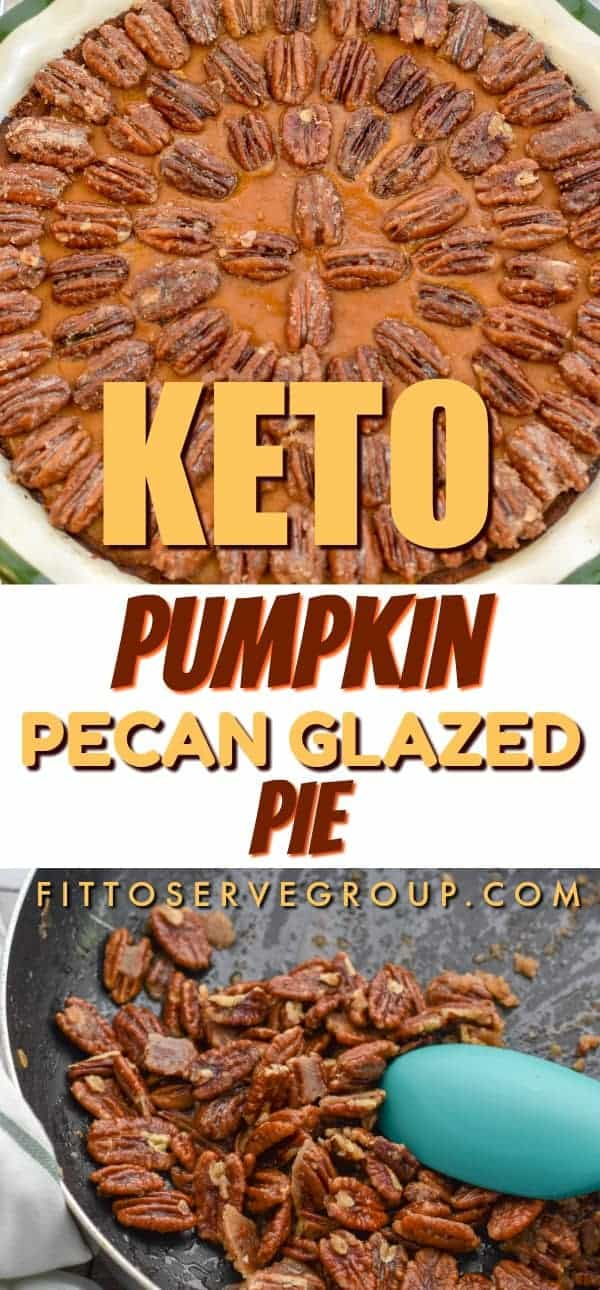 This holiday season why not make a delicious keto pumpkin pecan pie that is a tasty cross between a pumpkin pie and a pecan pie. It's one low carb pie that allows you to enjoy the best of these two flavor profiles and therefore a time-savor! keto pie| keto pumpkin pie| keto pecan pie| keto pecan pumpkin pie| low carb pumpkin pie| low carb pumpkin pecan pie| low carb pie