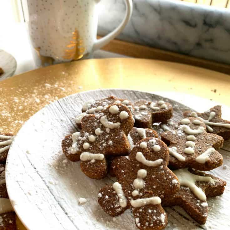 Spicy keto gingerbread cookies