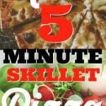 keto 5 minute skillet pizza