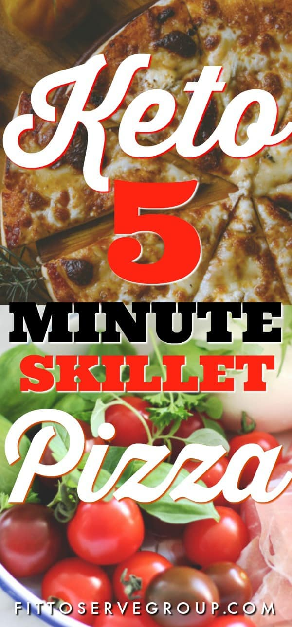 keto 5 minute skillet pizza