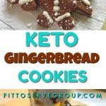 This recipe for Keto Gingerbread Cookies are loaded with the flavors of ginger, cinnamon, and nutmeg for one delicious low carb holiday cookie treat.