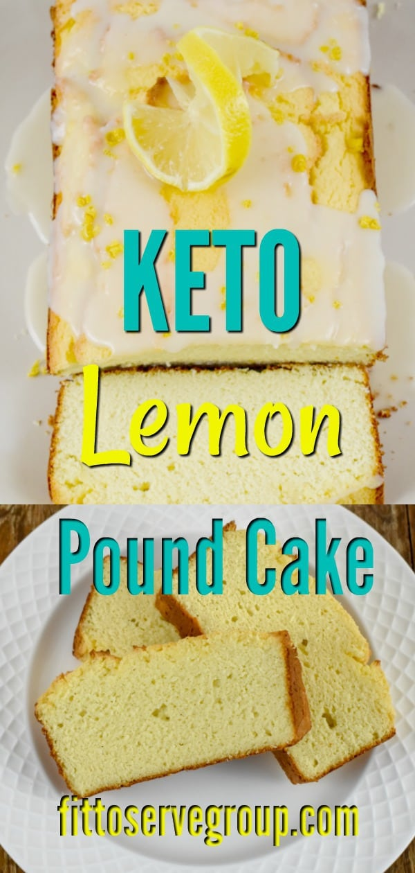 Keto lemon cream cheese pound cake