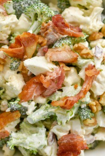 Keto Broccoli cauliflower salad Amish