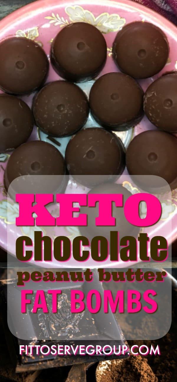 Keto chocolate peanut butter fat bombs